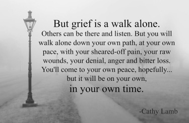 Grief-is-a-walk-alone-Cathy-Lamb